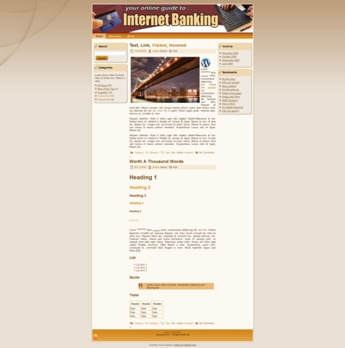 Product picture Internet Banking Templates - PLR