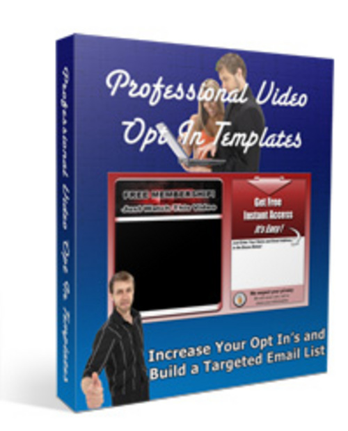 Product picture Pro Video Optin Templates - PLR