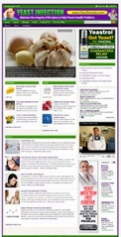 Product picture Yeast Infection Website - PLR